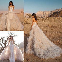 80a52ae9b34 Wedding Dress Pnina Tornai Canada - 2016 Full Lace Wedding Dresses  Strapless Neck Sleeveless Mermaid Backless