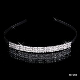 China Cheap 2017 Free Shipping 18018 Shining Crowns Wedding Bridal Tiaras 5.51 inch*0.39 inch Fashion Crowns Bride Jewelry 18018 supplier crystal tiaras suppliers