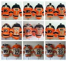 Philadelphia Flyers Балахон 16 Бобби Кларк 27 Рон Hextall Хоккей С Капюшоном 28 Клод Жиру 93 Якуб Ворачек Толстовка Толстовка