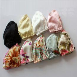 $enCountryForm.capitalKeyWord Canada - Pure silk Bra Double Faced Silk Wireless Ultra thin 100% Mulberry Silk Floral Print Bras 34 75-42 95ABC Free shipping
