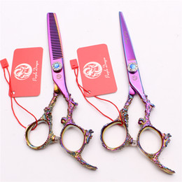"$enCountryForm.capitalKeyWord NZ - Z9005 6"" Japan 440C Purple Dragon Professional Human Hair Scissors Barbers' Hairdressing Scissors Cutting Thinning Shears Salon Style Tools"