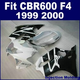 Full Fairing Honda Cbr Canada - 100% Injection molding parts full fairing kit for HONDA CBR 600 F4 1999 2000 white black 99 00 CBR600 F4 bodykits CBHG