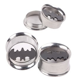 tunnel plug sizes Australia - Batman 316L Stainless Steel Flare Ear Plug 60pcs Mixed 6 sizes Ear Flesh Tunnel Fit Expander Piercing Earring Gauges Kits