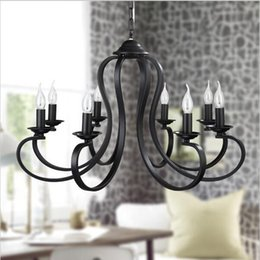 Retro American Loft Modern Vintage Pendant Light E14 Base For Living Room Dining Black White Home Decoration Lamp Fixtures