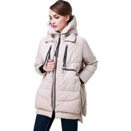 Barato Casacos Parka Americanos-American Hottest Winter Women Coat Jacket Parkas 2018 Hooded Ladies Down Overcoat Mulheres Mulheres militares Cotton Casual Down Coat Jacket Tide