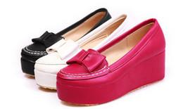 550208a61 Sapatos de plataforma primavera tamanho pequeno 30 31-43 cunhas únicas  rodada coreano código grande maré princesa sapatos