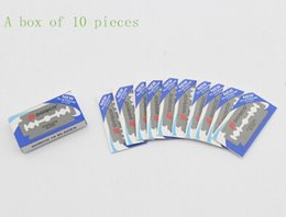 Chinese  Quality goods double-sided manual shave hair shaving heads razor blades   10 tablets manufacturers