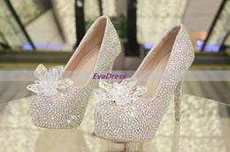 Glitter Prom Pumps NZ - Rhinestone Women Prom Zapatos Mujer Shoes Beaded Crystal Diamond Pumps New Arrival Shine Wedding Wedge Bottom High Heels