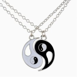 $enCountryForm.capitalKeyWord Canada - Lily Best Friends Ying Yang Two Bagua Charm Pendant Necklaces Retro Stylish with a Gift Bag
