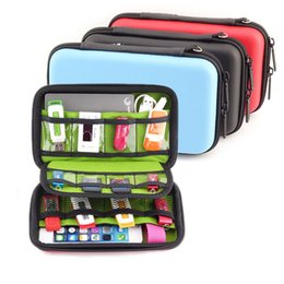 Flash Drive Storage Australia - Wholesale- Waterproof USB Cable Storage Bag Organizer Hard Drive Earphone Flash Drives Digital Gadget Devices Organizador Bags Case