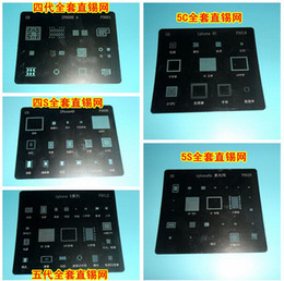 Toptan satış IC Onarım BGA Reballing Stencil Şablon iPhone 4 4 S 5 5C 5 S 6 6 Artı WIFI