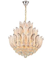 Новый ly цветок лотоса золотой кристалл кулон люстра для столовой спальня отель магазин; Хрустальная современная люстра бесплатная доставка LLFA