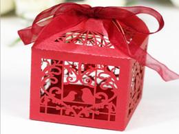 $enCountryForm.capitalKeyWord UK - DHL Fedex Free Shipping Candy Box Bird Heart Hollow Design Wedding Party Sweet Chocolate Packing Bag Boxes,200pcs lot