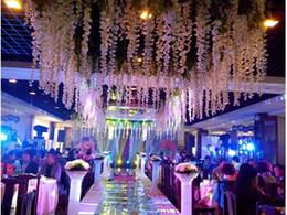 $enCountryForm.capitalKeyWord Canada - White green purple color 1.6 Meter Long Artificial Silk Flower Vine Wisteria Garland Fake Plants For Garden Wedding Party Decorations