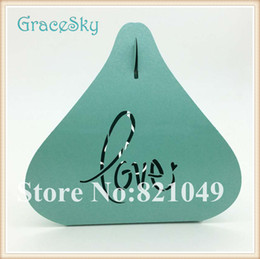 Marriage Party Decoration NZ - 100pcs Free shipping Laser Cut Love Heart Shaped Hollow Out Paper wedding Birthday Christmas Party Decoration Chocolate Candy Gift Boxes