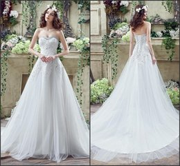 $enCountryForm.capitalKeyWord Canada - 2017 Cheap A Line Wedding Dresses Tiers Tulle Real Photo Sexy Lace-Up Back with Beads Appliques Vintage Lace Ivory Spring Bridal Gown CPS246