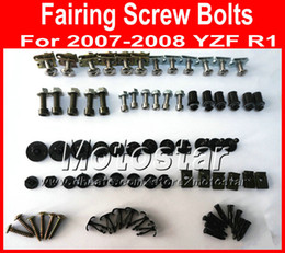 China New Cheap Motorcycle Fairing screws bolt kit for YAMAHA 2007 2008 YZFR1 YZF R1 07 08 black aftermarket fairings bolts screw set parts cheap r1 fairing bolt kit suppliers