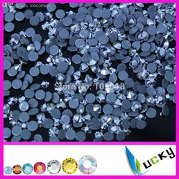 crystals rhinestones wholesale Australia - Wholesale-Top Quality hotfix rhinestone copy swarov 2038 DMC !1440pcs ss16 4mm Silvermine Labrador crystal for iron on transfers