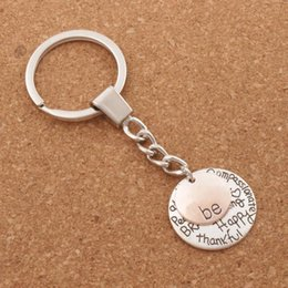 Happy rings online shopping - Be Happy Keychain Bag Pendant Be Friend Brave Happy Strong Car Key Chain Ring Holder K1622