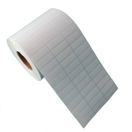 Printing Label Paper Sticker Canada - 10000pcs  set new 30*10mm stock coated paper blank without printing roll label sticker