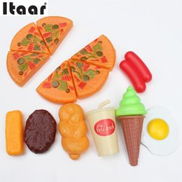 Wholesale  Hot Sale New Dazzling Kids Pizza Party Cooking Accessories  Pretend Kitchen Play House Role Play Toy Cheap Kids Play Kitchen Accessories