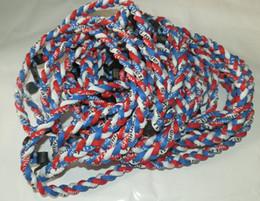 2015 nouveau collier tressé en titane 3 cordes tornade nouveau collier tornade de football baseball SPORTS en Solde