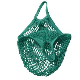 China Wholesale- Reusable String Shopping Grocery Bag Shopper Tote Mesh Net Woven Cotton Bag cheap woven tote bags wholesale suppliers
