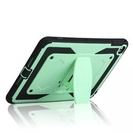 Mini Plastic Green Apples China Canada - X Style Shockproof Hybrid Heavy Rugged Defender Armor Case Plastic + Silicone Cover W  Kickstand stand for iPad Pro Mini 4 Mini4