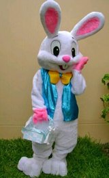 Costume Adulte Pas Cher-PROFESSIONAL EASTER BUNNY MASCOT COSTUME Bugs Rabbit Hare Adult Fancy Dress Cartoon Suit zzscawr