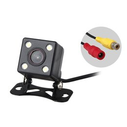 Chinese  E314 Waterproof 4 LED Night Vision Car CCD Rear View Camera Parking Assistance Camera For Android DVD Monitor manufacturers