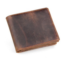 Mens billfold wallets online shopping - Mens Wallet Brown Color Genuine Leather Short Wallet Billfold With Coin Purse Pocket MOQ Piece Dropshipping