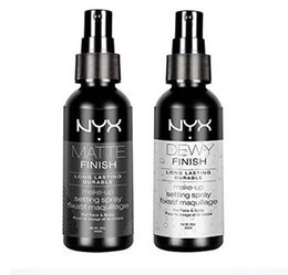Maquillaje En Spray Baratos-EPACK STOCK Nueva llegada NYX MAKEUP SETTING SPRAY Acabado mate Final cubierto de rocio Ajuste de larga duración Spray 60ML Face Beauty DHL Gratis