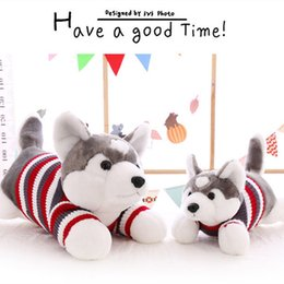 hot 50 cm cartoon gray sweater husky dog plush toy child cloth doll large pillow cushion child christmas birthday gift ib607 - Large Dog Christmas Sweaters
