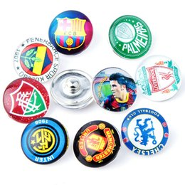 $enCountryForm.capitalKeyWord Canada - JACK88 Hot 18mm Snaps Button Charm Mix Styles 50pcs lot About Football Fit Ginger Snap Button Charm Bracelet Jewelry M037