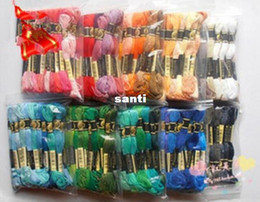 Großhandel 8.7 Yard-Stickgarn Kreuzstichgarn Floss CXC Ähnliche DMC 447-Farben