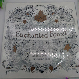 2015 Best Sales Edition Enchanted Forest Secret Garden An Inky Quest Coloring Book For Relieve Stress Graffiti Painting Drawing