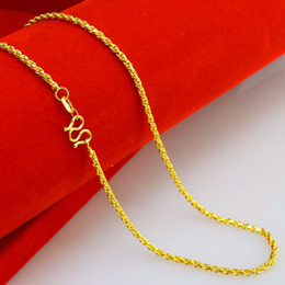 $enCountryForm.capitalKeyWord Canada - 2mm yellow Twist chain bridal necklace, 24k gold plated necklace for 2016 women jewelry suitable for any pendant