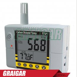 TemperaTure moniTor alarm online shopping - Low Cost Wallmount CO2 Monitor CO2 Temperature IAQ Monitor Alarm RS232 Output Delay Function AZ7721