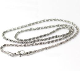 Ingrosso Beadsnice collana in acciaio inox moda catena collana all'ingrosso con chiusura a moschettone regalo per le donne ID 4452