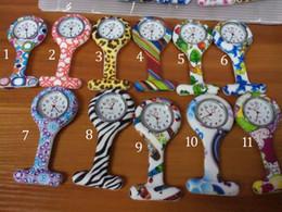 Discount nurse doctor pocket watch - New Colorful Prints Silicone Nurse Pocket Watch Doctor Fob Quartz Watch Kids Gift Watches 11 Styles B001