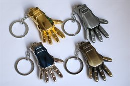$enCountryForm.capitalKeyWord NZ - 4 Color Marvel Super Hero Keychain Key Ring Iron Man Hands Avengers Alloy Key Chain 5pcs lot Movie Jewelry