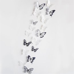 quality living room furniture UK - IDFIAF High quality sticker on the fridge black butterfly vine flower wallstickers kitchen decoration decals on the furniture