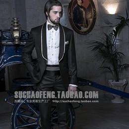 Sale Dress Suits Canada - 2015 hot sale custom of the groom dresses wedding suit best man wedding suit a button (jakcet+pants+tie+vest+face cloth)A020