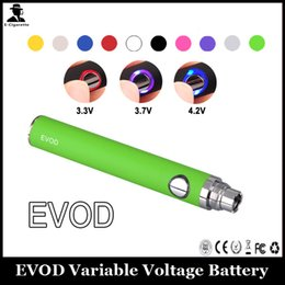 $enCountryForm.capitalKeyWord Australia - EVOD Battery 650mAh 900mAh 1100mAh Electronic Cigarette Battery Variable Voltage Adjust Voltage By Button For 510 Thread Atomizer
