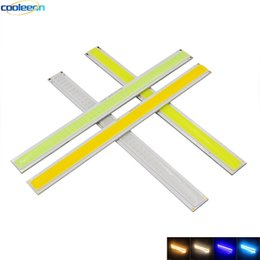 China 170*15mm 6W COB LED Strip Bulb for DIY Car Lighting DRL Lights 12V 600LM Warm Cold White Blue Colors Lamp suppliers