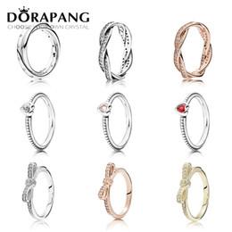 Vente en gros DORAPANG 925 Sterling Silver 14K Or Couleur Anneaux Pour Les Femmes Rose Or Gouttes De Mode DIY Pan Ring Usine En Gros