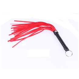 Chinese  New Design BDSM Whip Faux Leather Black Red Color Fetish Sex Toy Flogger Paddle for Male Female Sexual Play Cosplay B0315014 manufacturers