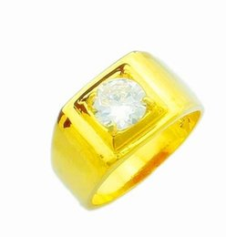 chaming yellow gold inlay crystal men ring size 8 9 10(sp3658) tgfdf