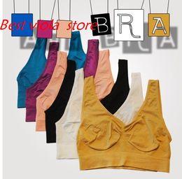 b871d281ce761 Top Quality 500Pcs Sexy Underwear Seamless Ladies ahh Bra Sizes Sport Yoga  Bra Microfiber Pullover Bra Body Shape 9 colors 6 size