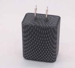 Usb Fiber Adapter UK - Carbon Fiber Charger Adapter 5V 2.1A Dual USB Plug Quick Travel Adapter For iPhone 7 iPhone 8 8 plus iPhone X Samsung S8 S8 plus Note 8